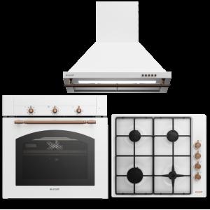 Arçelik Beyaz Rustik Ankastre Seti (710 RB + 9710 RB + P 27 YRB)
