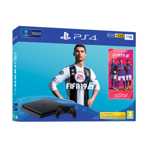 Sony Ps4 Playstation 1 TB Slim Oyun Konsolu + FIFA 19 Paketi