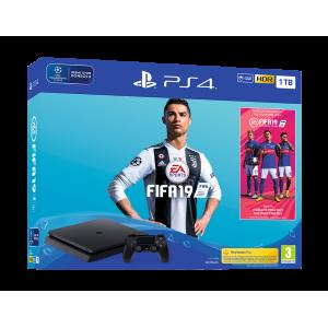 Sony Ps4 Playstation 1 TB Slim Oyun Konsolu + FIFA 19 Paketi