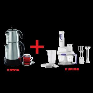 Arçelik K 3282 IM Çay Makinesi ve K 1261 RHB Blender Seti