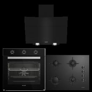 Arçelik Mekanik Siyah Cam Ankastre Set (AFC 230 S - P 12 YES - 651 ES)