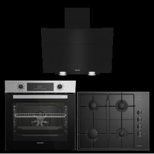 Arçelik Smart Çizgi Siyah Cam Ankastre Set (AFM 340 I - P 12 YES - 651 EKS)