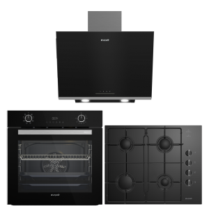 Arçelik Smart Siyah Cam Ankastre Set (AFC 340 S - ADE 606 S - 651 EKS)