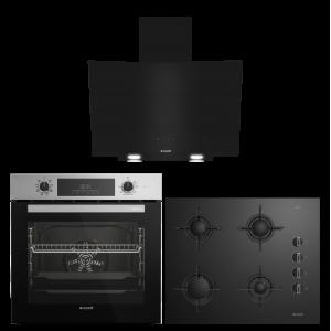 Arçelik Çizgi Star Siyah Cam Ankastre Set (AFM 340 I - P 12 YES - 651 ES)