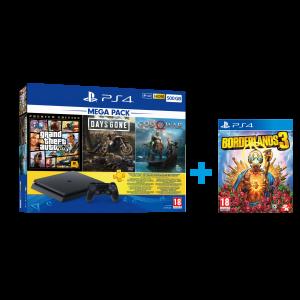 Sony Playstation 4 Slim 500 GB Mega Pack + PS4 Borderlands 3 Hediye (Euro Asiya Garantili)