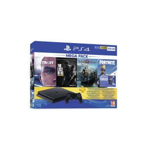 Sony PS4 500GB 1 DS + God of War + Detroit: Become Human + The Last of Us Remastred + Fortnite + PS Plus 3 Ay Üyelik (Sony Euro Asia Garantili)